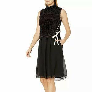 Nic & Zoe Dress Size XS Corset Side Tie
